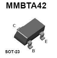 Transistor NPN MMBTA42 SMD