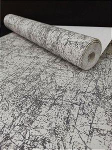 Papel de Parede Texturizado Grafiato  Lavável Cinza e Branco