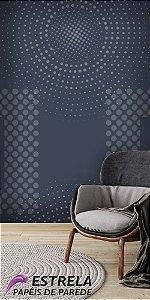 Papel de Parede Geométrico 3D Azul