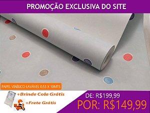 Papel De Parede Confete Colorido 10 Metros