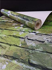 Papel de Parede Tijolinho Verde Abstrato 10 Metros