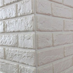 Placa Adesiva 3D - Tijolinho Branco - 70cm x 76cm