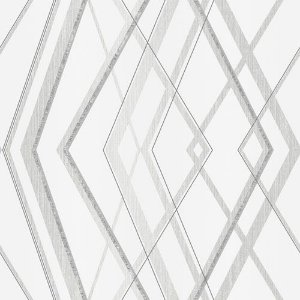 Papel de Parede Vinílico - EPP III - Geométrico - creme e prata