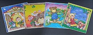 Quadro Adesivo Infantil Ursinhos
