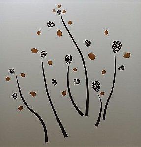 Adesivo Stickers Folhas (58 cm x 33 cm)
