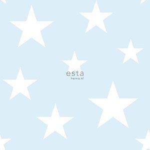 Papel de Parede Vinicilo - Estrelas - Azul e Branco