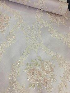 Papel de Parede Floral Lilas com Branco