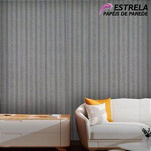 Papel de parede Listrado Cinza Claro e Cinza Escuro