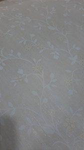 Papel de parede Floral Bege com Branco
