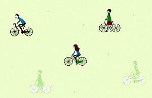 Papel de Parede Dream Word A1051-1bicicletas fundo verde 1,06 x 15 rendimento de 12 metros