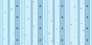 Papel de Parede Dream Word Listras Estrelada Azul - 1,06m x 15m