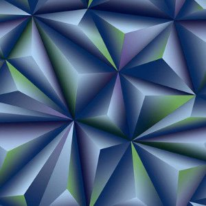 Papel de Parede 3D azul e verde, emborrachado, texturizado e lavável.