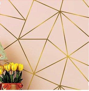 Papel de Parede Zara Rosa Gold 3 Metros
