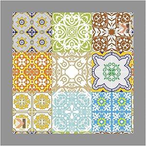 Adesivo Azulejo Hidráulico Mesclado 3 Metros