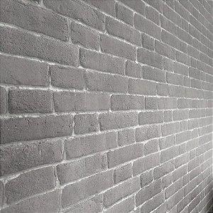 Papel de Parede Tijolinho cinza escuro 10 Metros