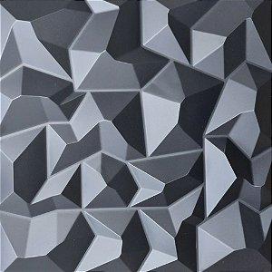 Placa 3D Adesiva 50X50 Preta Alpes