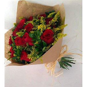 Buque de Rosas Vermelhas com 12 Botões