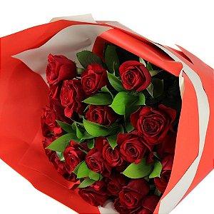 Buquê de 36 Rosas Vermelhas Louco de Paixão