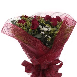 Buquê de Rosas Naturais Desculpa Mas Eu Te Amo
