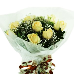 Bouquet Rosas Chá 12 Rosas Encantador