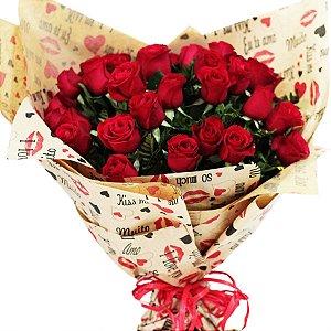 Buquê 24 Flores Cada Dia Te Amo Mais