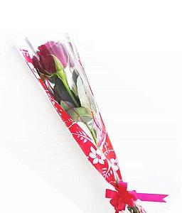 Botão de Rosa Decorado para Acompanhar Seu Presente