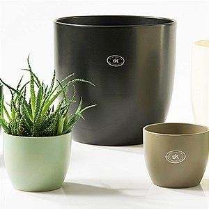 Vaso Importado Bege-Tamanho Orquídea Pote 15