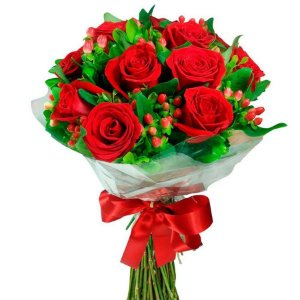 Buquê de Flores Tradition 12 Rosas Vermelhas
