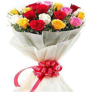 Buquê de Flores Rosas Coloridas