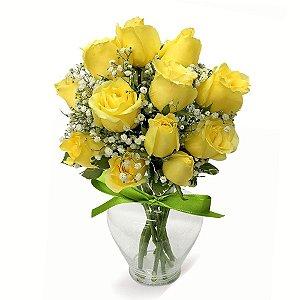 Itens para fazer um Arranjo de Rosas Amarelas para Decoração