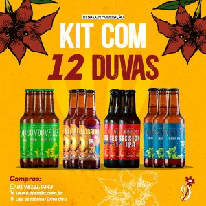 KIT MIX 12 Unid. CERVEJAS 275ML (PILSEN + BLONDE + SESSION IPA + IPA)