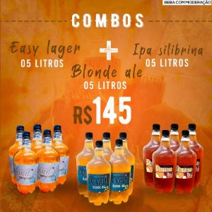 COMBO 5L EASY LAGER + 5L BLONDE ALE + 5L IPA SILIBRINA