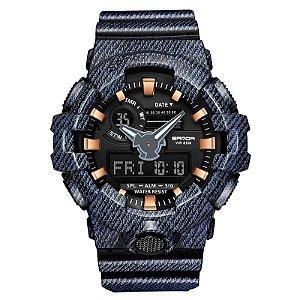 Relógio Fuzileiro Sanda S-Shock WR700 Original A Prova D'água