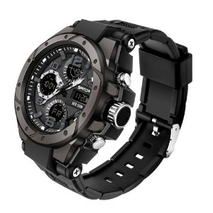 Relógio Militar de Luxo Sanda Golden Eye 6008 Original Linha 2021