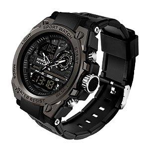 Relógio Militar Ultra Resistente Sanda WR 6024 Lançamento 2021 Original