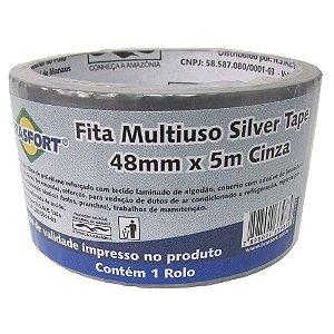 FITA SILVER TAPE 48MMX5M CINZA 7547 BRASFORT