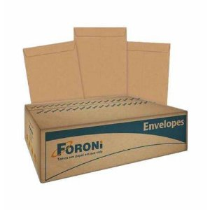 ENVELOPE SACO KRAFT NATURAL 110X170MM 500 UNID. 80GR. FORONI