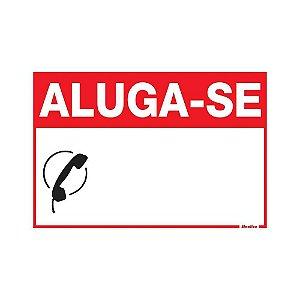 """PLACA SINALIZAÇÃO PVC 20X30 """"ALUGA-SE"""" SINALIZE"""