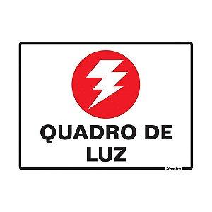 """PLACA SINALIZAÇÃO POLIESTIRENO 15X20 """"QUADRO DE LUZ"""" SINALIZE"""