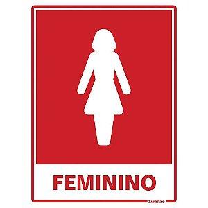 """PLACA SINALIZAÇÃO POLIESTIRENO 15X20 """"SANITARIO FEMININO"""" SINALIZE"""