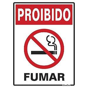 """PLACA SINALIZAÇÃO POLIESTIRENO 15X20 """"PROIBIDO FUMAR"""" SINALIZE"""