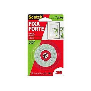FITA DUPLA FACE ESPUMA 24MM X 1,5M FIXA FORTE 3M