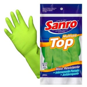 LUVA LATEX VERDE 1 PAR TOP SANRO