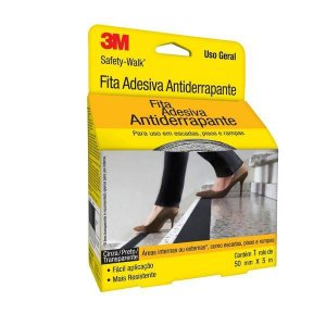 FITA ANTIDERRAPANTE SAFETY WALK TRANSPARENTE 50MMX5M 3M(110396)