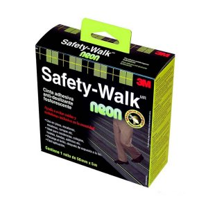 FITA ANTIDERRAPANTE SAFETY WALK NEON 50MMX5M 3M