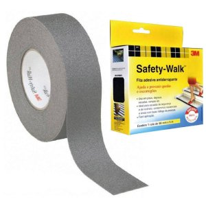 FITA ANTIDERRAPANTE SAFETY WALK CINZA 50MMX5M 3M(110469)
