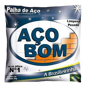 PALHA DE AÇO Nº 1 MÉDIA AÇO BOM
