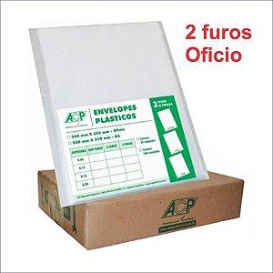 SACO PLASTICO OFICIO 2 FUROS 0.12 MICRAS C/500 ACP