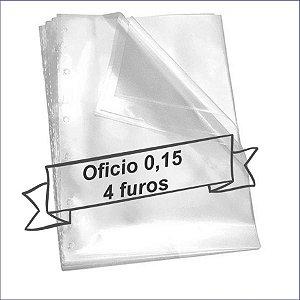 SACO PLASTICO OFICIO 4 FUROS 0.15 MICRAS C/100 ACP