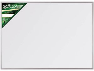 QUADRO BRANCO 150X120 MOLDURA ALUMÍNIO STD. 5106 SOUZA